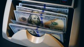 Maszyna wolno liczy dolarowych banknoty zbiory wideo