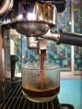Maszynowa Kawowa kawa espresso gorąca Obrazy Stock
