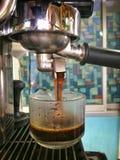 Maszynowa Kawowa kawa espresso gorąca Fotografia Stock