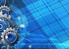 Maszynowe technologii przekładnie retro gearwheel mechanizmu bacground Fotografia Royalty Free
