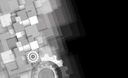 Maszynowe technologii przekładnie retro gearwheel mechanizmu bacground Obrazy Stock