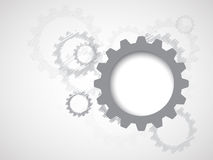 Maszynowe technologii przekładnie retro gearwheel mechanizmu bacground Fotografia Stock