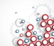Maszynowe technologii przekładnie retro gearwheel mechanizmu bacground Zdjęcia Stock