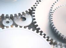 Maszynowe technologii przekładnie retro gearwheel mechanizmu bacground royalty ilustracja