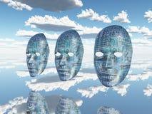 Maszynowe twarze Zdjęcia Stock