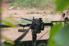Maszynowego pistoletu pasmo przy Cu Chi tunelami Obraz Royalty Free