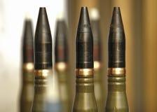 Maszynowego pistoletu pociski wystawiający na pokazie Obraz Stock