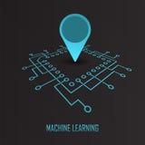 Maszynowego uczenie geo oceny wektor Zdjęcia Stock