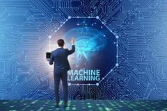Maszynowego uczenie pojęcie jako nowożytna technologia obraz stock