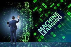Maszynowego uczenie pojęcie jako nowożytna technologia zdjęcia stock