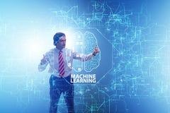 Maszynowego uczenie pojęcie jako nowożytna technologia obrazy stock