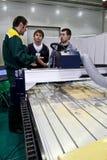 maszynowy Cnc woodworking Obrazy Stock