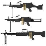 Maszynowy pistolet Zdjęcia Royalty Free