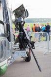 Maszynowy pistolet na niemieckim dennego rysia helikopterze na Berlin pokazie lotniczym, Zdjęcie Stock