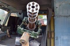Maszynowy pistolet w Amerykańskim helikopterze zdjęcie stock