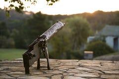 Maszynowy pistoletu WW2 Wojenny pomnik Fotografia Stock
