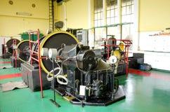 Maszynowy pokój stara elektrownia Zdjęcie Stock