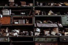 Maszynowy sklep dotaczanie, Zachodnia Virginia - atlant Szkło Firma - obrazy stock