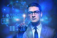 Maszynowy uczenie oblicza pojęcie nowożytny ja technologia Obrazy Royalty Free
