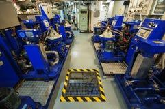 Maszyny ciężkie na pokładzie przemysłowego statku Zdjęcie Stock