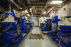 Maszyny ciężkie na pokładzie przemysłowego statku Obrazy Stock