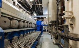 Maszyny ciężkie na pokładzie przemysłowego statku Fotografia Stock