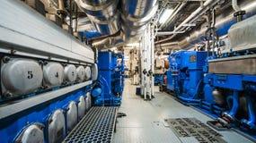 Maszyny ciężkie na pokładzie przemysłowego statku Obraz Stock