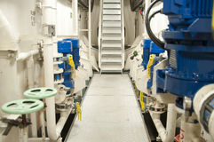 Maszyny Ciężkie przestrzeń - drymby, klapy, silniki Obrazy Stock