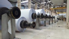 Maszyny dla produkcji papierowe rolki zdjęcie royalty free