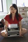 maszyny do pisania kobieta Obrazy Stock