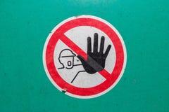Maszyny szyldowy ostrzegawczy bezpieczeństwo Obrazy Royalty Free