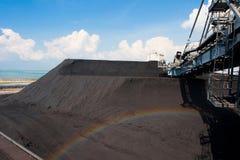 Matéria- prima em massa do lignite fotos de stock royalty free