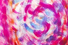 A matéria têxtil abstrata floresce a cor cor-de-rosa Foto de Stock Royalty Free