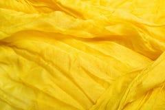 Matéria têxtil amarela Foto de Stock