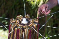 Matéria têxtil atada colorida Imagem de Stock