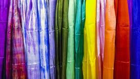 Matéria têxtil colorida da textura como o arco-íris ilustração royalty free