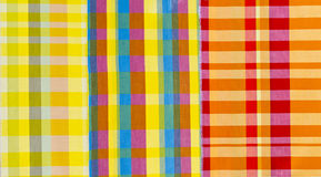 Matéria têxtil colorida de panos Foto de Stock