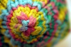 Matéria têxtil colorida feita malha do polígono fotografia de stock