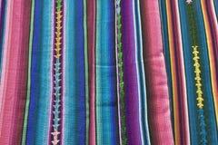 Matéria têxtil de Guatemala Imagens de Stock Royalty Free