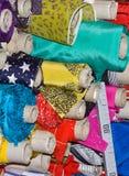 A matéria têxtil de lã e de algodão rola tayloring Imagens de Stock Royalty Free