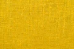 Matéria têxtil de linho amarela fotos de stock
