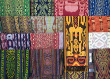 Matéria têxtil de Lombok Foto de Stock Royalty Free