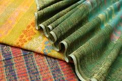 Matéria têxtil de Songket Fotografia de Stock Royalty Free