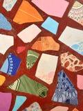 Matéria têxtil do mosaico Fotografia de Stock Royalty Free