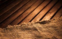 Matéria têxtil e madeira escuras Foto de Stock Royalty Free