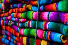 Matéria têxtil guatemalteca de pano Fotografia de Stock Royalty Free