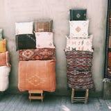 Matéria têxtil marroquina Foto de Stock Royalty Free