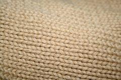 Matéria têxtil natural Fotografia de Stock