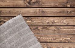 Matéria têxtil no fundo de madeira Foto de Stock