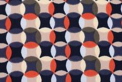 Matéria têxtil retro geométrica do teste padrão Foto de Stock
